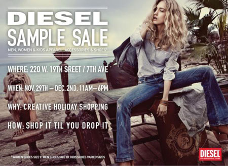 Diesel Sample Sale
