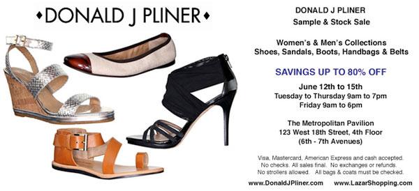Donald J Pliner Sample Sale