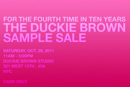 Ducky Brown Sample Sale