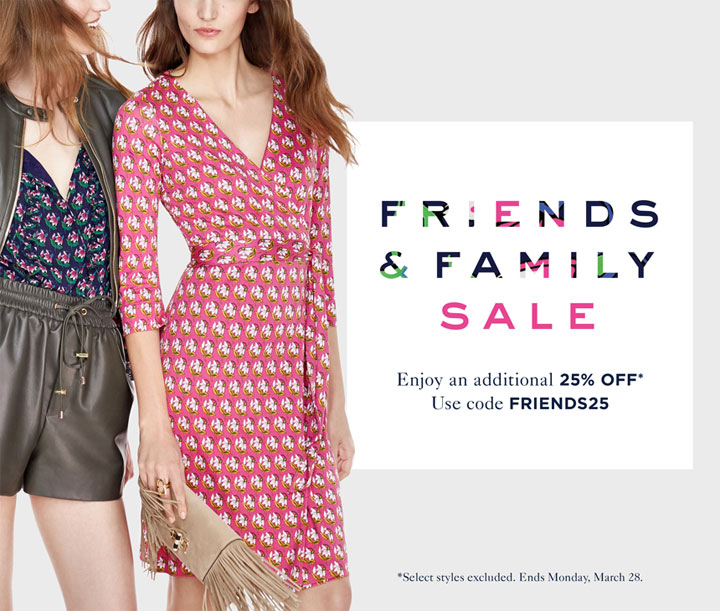 DVF Friends & Family Sale