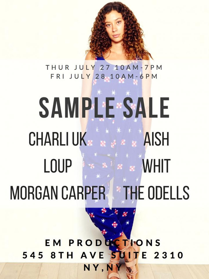 eM Productions Sample Sale