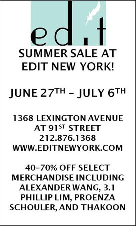 Edit New York Summer Sale