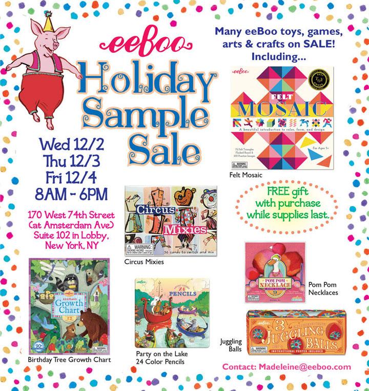 eeBoo Holiday Sample Sale