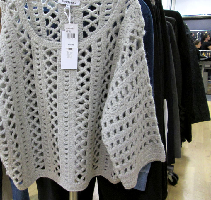 Cropped and season appropriate chunky sweaters for $90