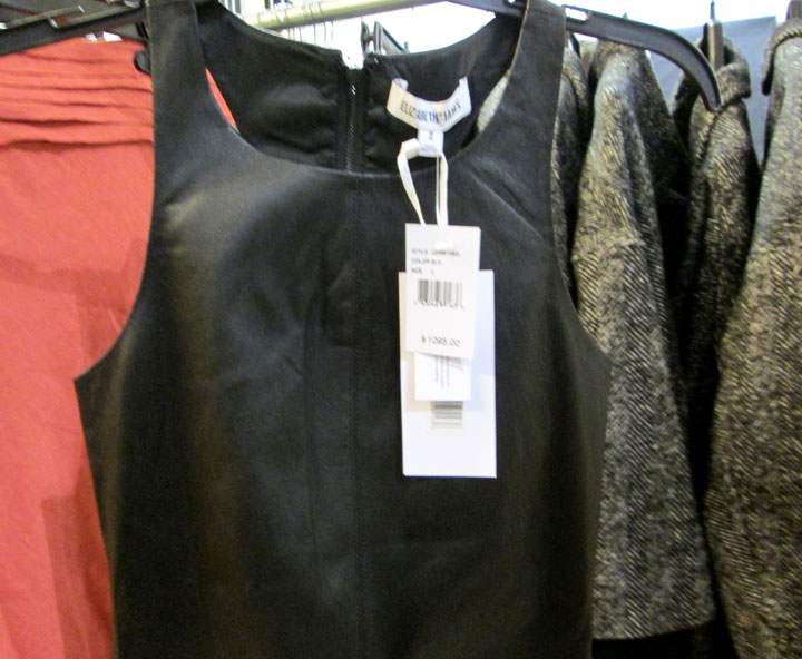 Leather dresses, jackets and bottoms for $250