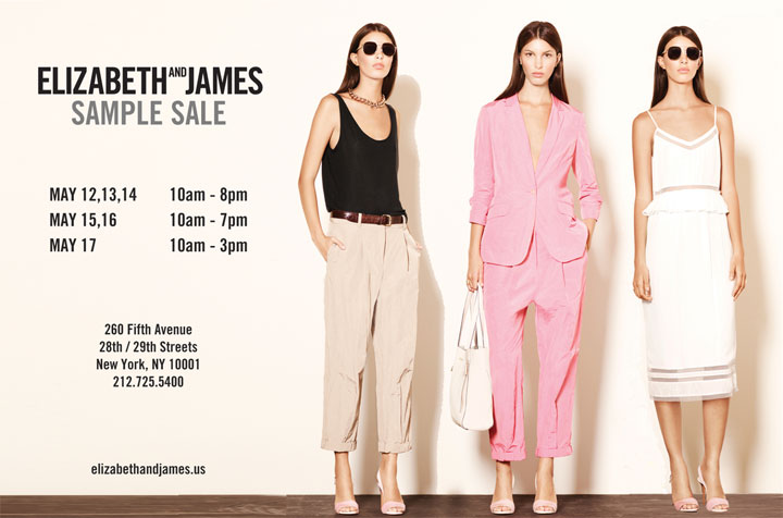 Elizabeth and James Spring 2015 Sample Sale