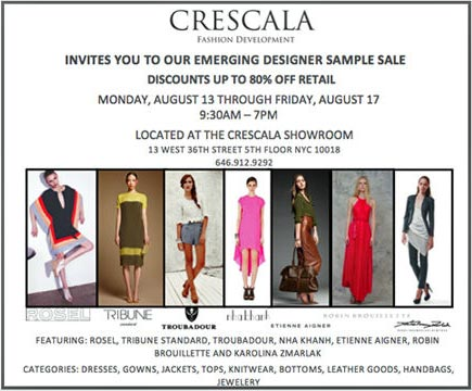 Emerging Designers Sample Sale