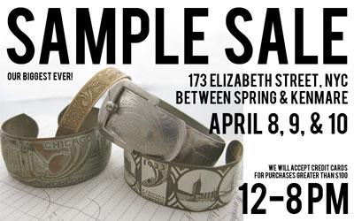 Erica Weiner Sample Sale