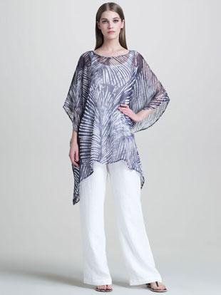 eskandar Silk Caftan & Drawstring Trousers