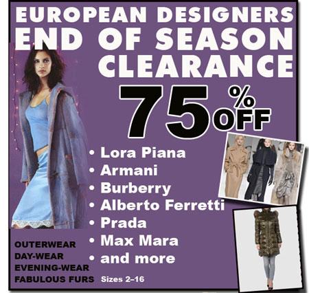 European Designers End-of-season Sale
