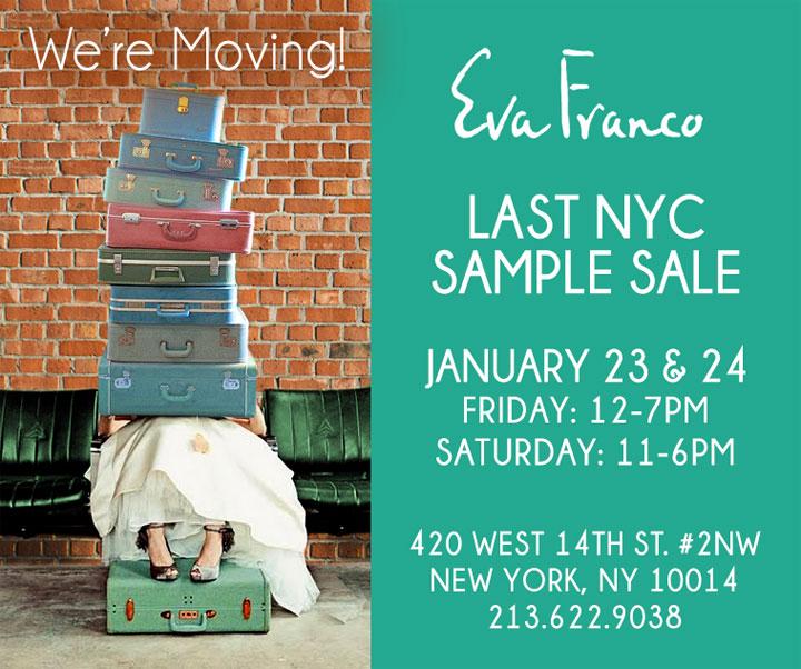 Eva Franco Last NYC Sample Sale