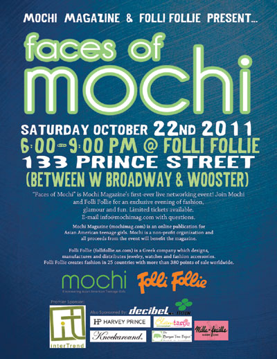 'Faces of Mochi' Shopping and Networking Event: 10/22
