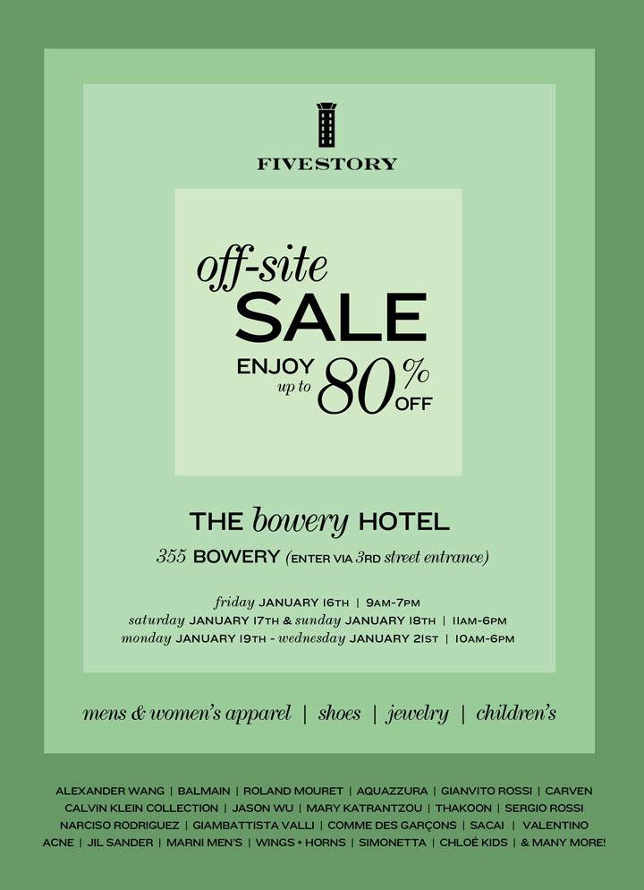 Fivestory Off-Site Sale