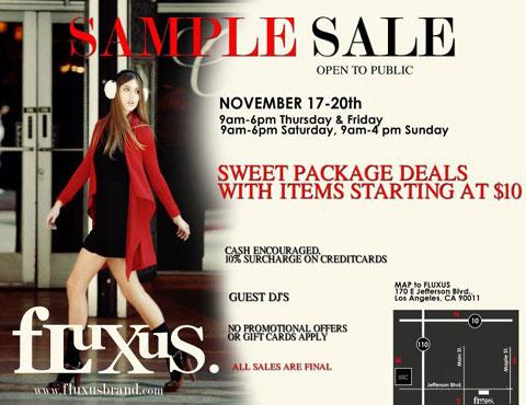 Fluxus Sample Sale