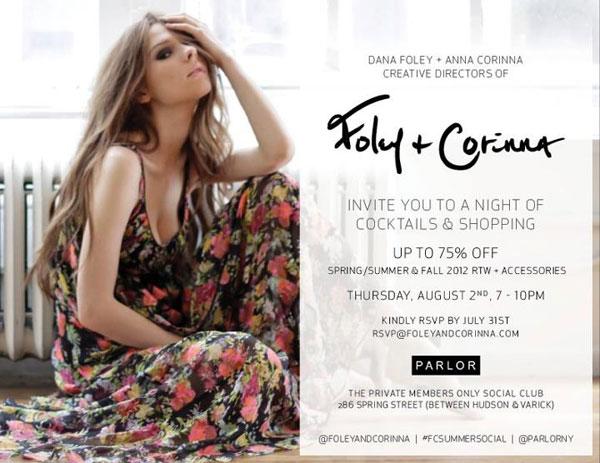 Foley + Corinna Shopping Event