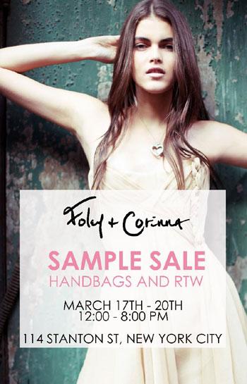 Foley & Corinna Sample Sale
