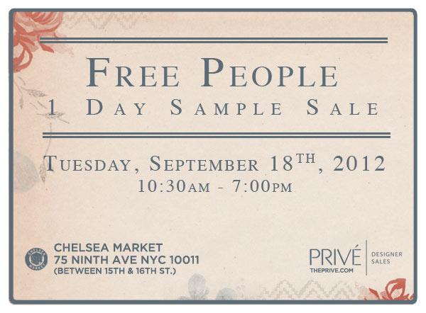 Free People Sample Sale