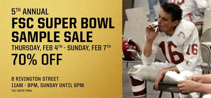 Freemans Sporting Club 5th Annual Super Bowl Sample Sale