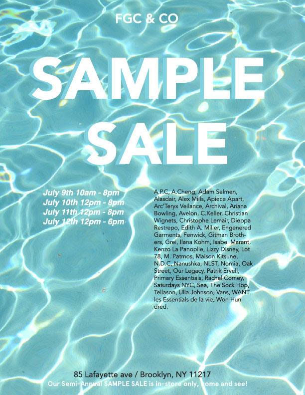 French Garment Cleaners Sample Sale