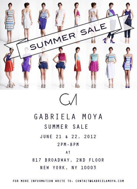 Gabriela Moya Sample Sale