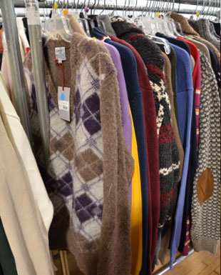 Sweaters at the Gant sample sale