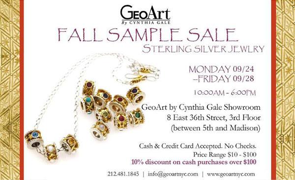 GeoArt by Cynthia Gale Fall Sample Sale
