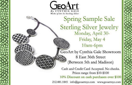 GeoArt By Cynthia Gale Spring Sample Sale