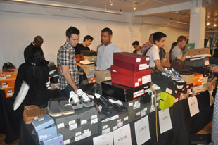 Better selection in shoes for men at the Gilt Warehouse Sale
