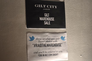 Gilt Warehouse Sale