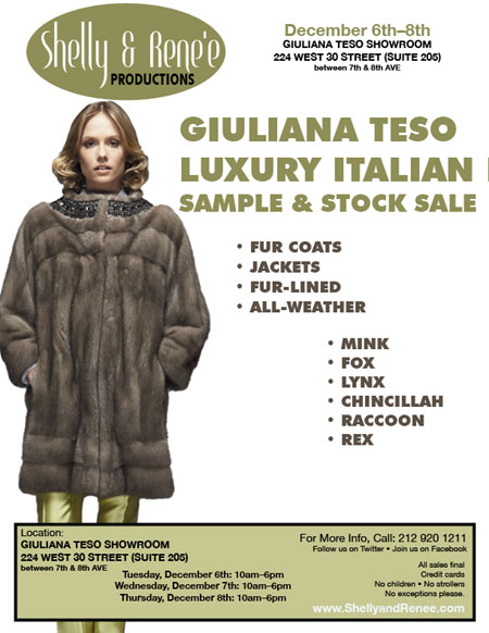 Giuliana Teso Sample & Stock Sale