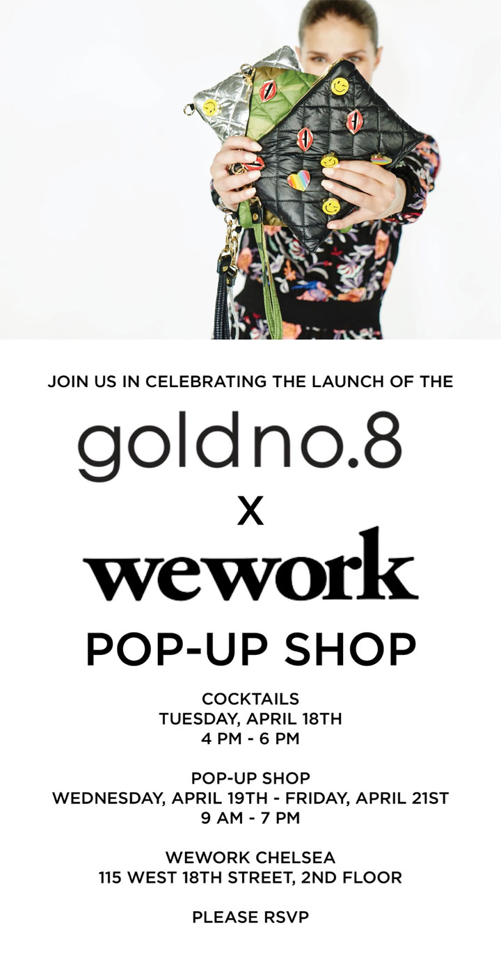 goldno.8 x WeWork Pop-Up Shop