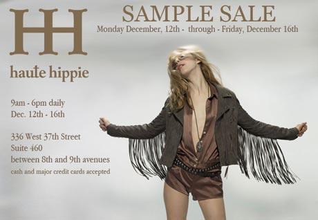 New York Sample Sales - Haute Hippie Sample Sale