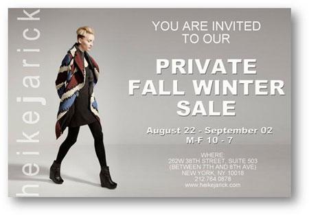 Heike Jarick Private Sample Sale