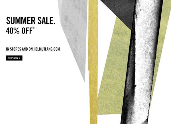 Helmut Lang Summer Retail Sale