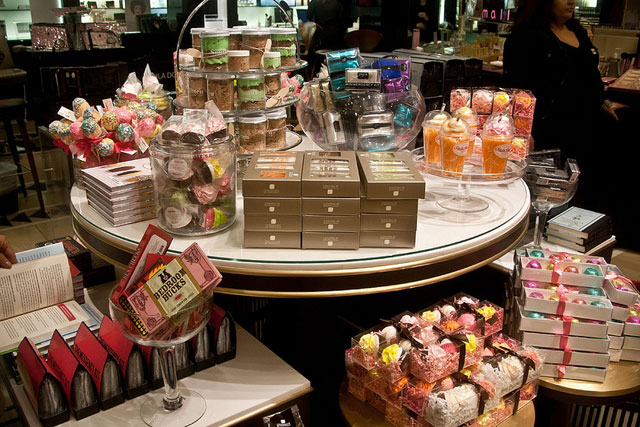The upscale women's speciality store -- which sells everything from parfums to beauty products, gourmet foods to accessories and beyond