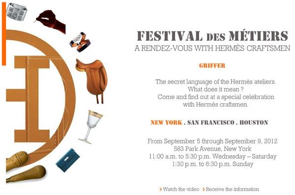 Hermès Festival of Crafts