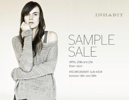 Inhabit Spring Sample Sale