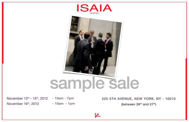 Isaia Napoli Sample Sale