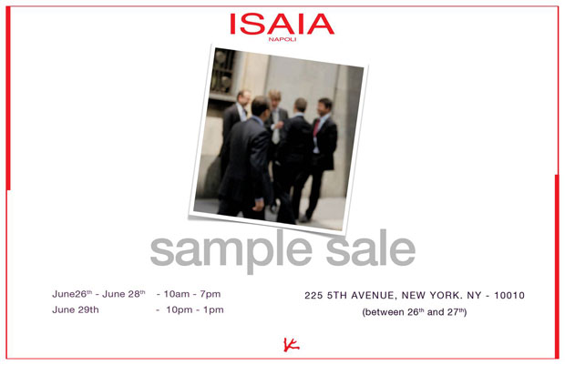 Isaia Napoli Suiting Sample Sale