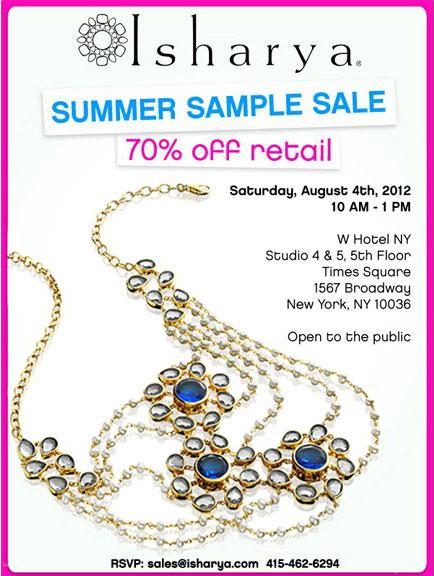 Isharya Summer Sample Sale