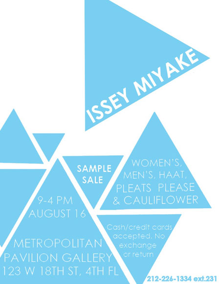 Issey Miyake Sample Sale