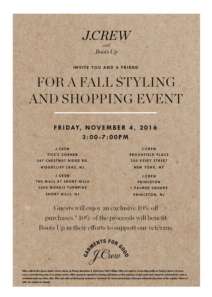 J.Crew + Boots Up Fall Styling & Shopping Event