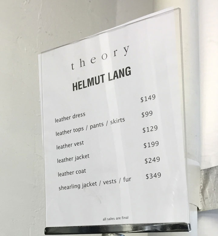 Leather and fur rack price list