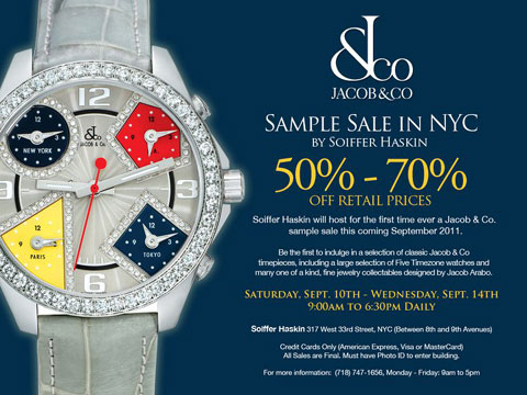 Jacob & Co Sample Sale