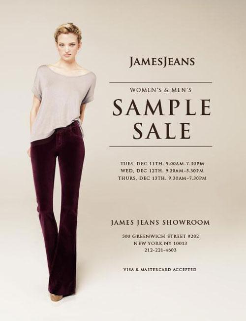 James Jeans Sample Sale