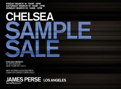 James Perse Sample Sale