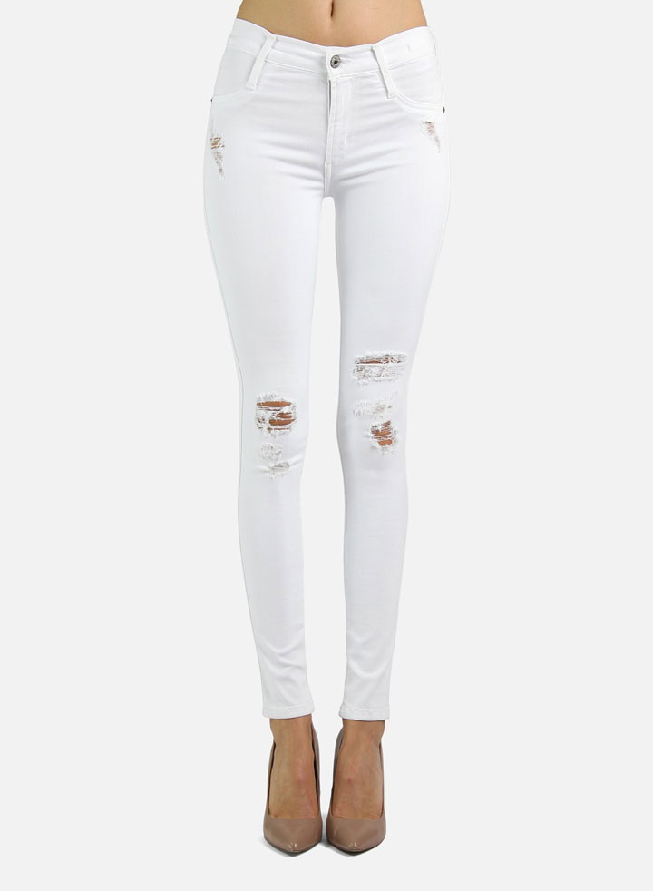 James Twiggy White Clean Distressed: $80 (orig. $172)