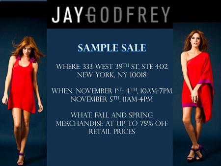 Jay Godfrey Sample Sale
