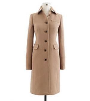 J.Crew Women's Double Cloth Metro Coat: Orig $325, now $150