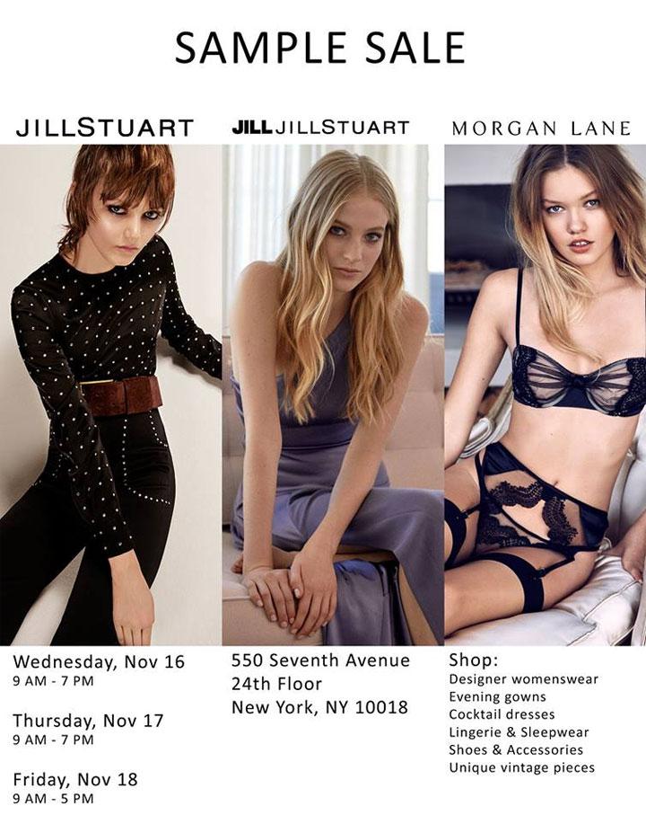 Jill Stuart, Jill Jill Stuart, & Morgan Lane Sample Sale